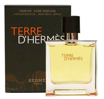 """תמונה של בושם טרה ד'הרמס הרמס 75מ""""ל א.ד.פ  -  Terre D'Hermes Hermes 75ml E.D.P  - בושם לגבר"""