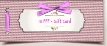 תמונה של כרטיס מתנה - Gift Card -בחירת סכום