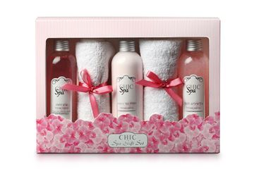 CHIC Trio Set Spa Orchid - Shower Cream + Body Lotion + AQUA Gel peeling בשמים במבצע | בושם לאישה | בושם לגבר | בשמים