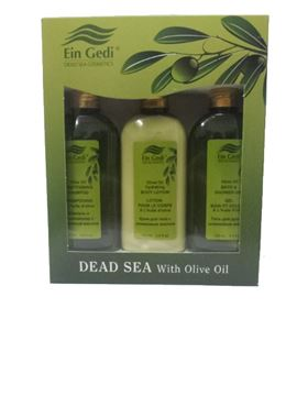 Ein-Gedi Cosmetics - Triple Set  Oasis Olive Oil - Body Lotion, Shower Gel & Shampoo  Conditioner  100 ml בשמים במבצע | בושם לאישה | בושם לגבר | בשמים