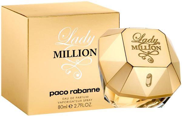 """בושם ליידי מיליון פאקו רבאן 80מ""""ל א.ד.פ  -  Lady Million Paco Rabanne 80ml E.D.P - בושם לאישה מקורי בשמים חדשים   בושם לאישה    בושם לגבר   בשמים במבצע"""