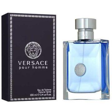 """בושם ורסצ'ה 100מ""""ל א.ד.ט -Versace Pour Homme 100ml E.D.T - בושם לגבר"""