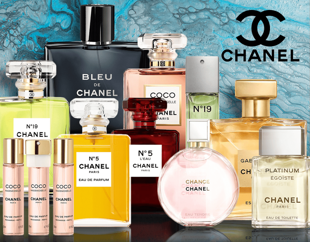Chanel perfumes collection
